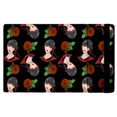 Vintage Flapper Woman Black Apple Ipad 3/4 Flip Case by snowwhitegirl