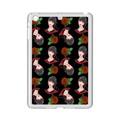 Vintage Flapper Woman Black Ipad Mini 2 Enamel Coated Cases by snowwhitegirl