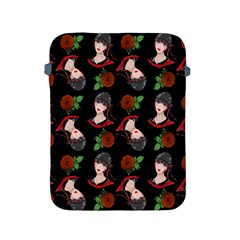 Vintage Flapper Woman Black Apple Ipad 2/3/4 Protective Soft Cases by snowwhitegirl
