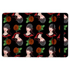Vintage Flapper Woman Black Ipad Air Flip by snowwhitegirl