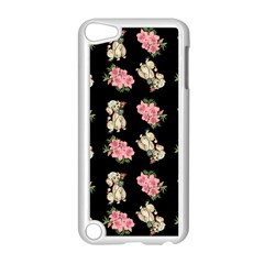 Retro Dog Floral Pattern Apple Ipod Touch 5 Case (white) by snowwhitegirl