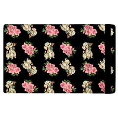 Retro Dog Floral Pattern Ipad Mini 4