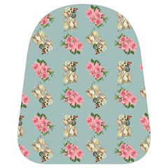 Retro Dog Floral Pattern Blue School Bag (small) by snowwhitegirl