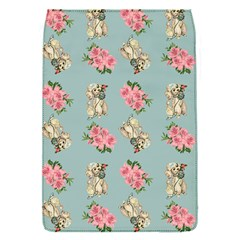Retro Dog Floral Pattern Blue Removable Flap Cover (s) by snowwhitegirl