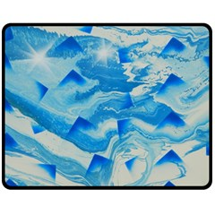 Space Fracture Fleece Blanket (medium)  by WILLBIRDWELL