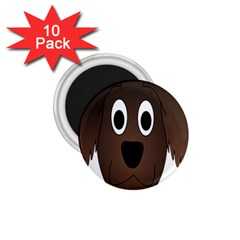 Dog Pup Animal Canine Brown Pet 1 75  Magnets (10 Pack)