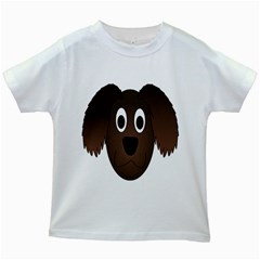 Dog Pup Animal Canine Brown Pet Kids White T Shirts