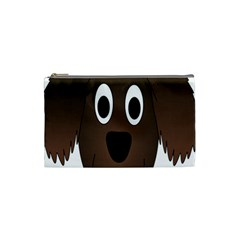 Dog Pup Animal Canine Brown Pet Cosmetic Bag (small)
