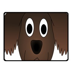 Dog Pup Animal Canine Brown Pet Fleece Blanket (small)