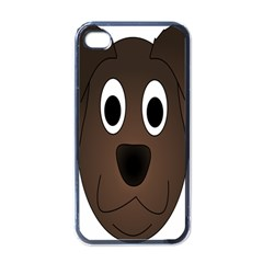 Dog Pup Animal Canine Brown Pet Apple Iphone 4 Case (black)