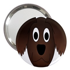 Dog Pup Animal Canine Brown Pet 3  Handbag Mirrors