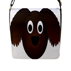 Dog Pup Animal Canine Brown Pet Flap Closure Messenger Bag (l)