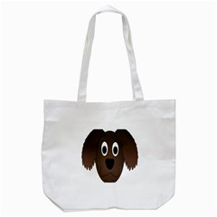 Dog Pup Animal Canine Brown Pet Tote Bag (white) by Samandel