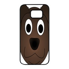 Dog Pup Animal Canine Brown Pet Samsung Galaxy S7 Edge Black Seamless Case by Samandel