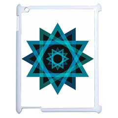 Transparent Triangles Apple Ipad 2 Case (white)