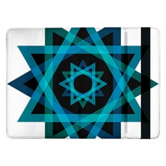 Transparent Triangles Samsung Galaxy Tab Pro 12 2  Flip Case