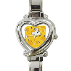 Rat Mouse Cheese Animal Mammal Heart Italian Charm Watch