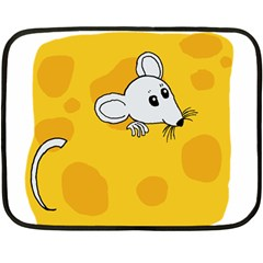 Rat Mouse Cheese Animal Mammal Double Sided Fleece Blanket (mini)  by Samandel