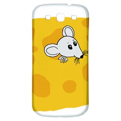 Rat Mouse Cheese Animal Mammal Samsung Galaxy S3 S Iii Classic Hardshell Back Case by Samandel