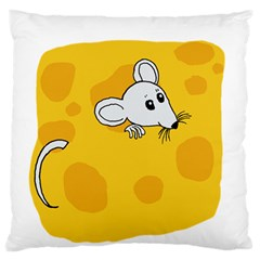 Rat Mouse Cheese Animal Mammal Large Flano Cushion Case (two Sides)