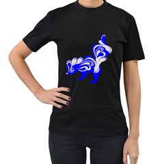 Skunk Animal Still From Women s T Shirt (black) (two Sided)