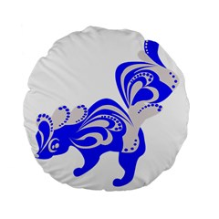 Skunk Animal Still From Standard 15  Premium Flano Round Cushions