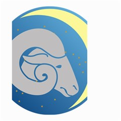 Ram Zodiac Sign Zodiac Moon Star Small Garden Flag (two Sides)