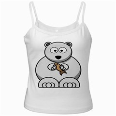 Bear Polar Bear Arctic Fish Mammal Ladies Camisoles by Samandel