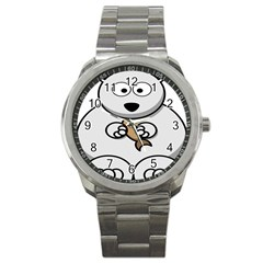 Bear Polar Bear Arctic Fish Mammal Sport Metal Watch