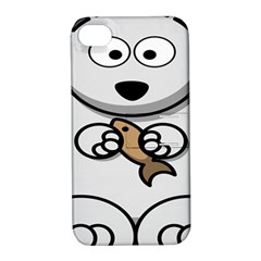 Bear Polar Bear Arctic Fish Mammal Apple Iphone 4/4s Hardshell Case With Stand