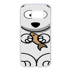 Bear Polar Bear Arctic Fish Mammal Samsung Galaxy S7 Edge White Seamless Case