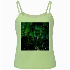 City Night Landmark Green Spaghetti Tank