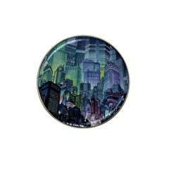 City Night Landmark Hat Clip Ball Marker (10 Pack)