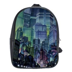 City Night Landmark School Bag (large)