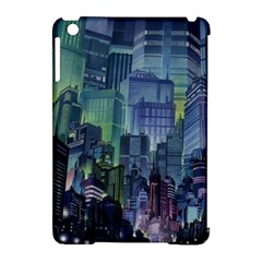 City Night Landmark Apple Ipad Mini Hardshell Case (compatible With Smart Cover) by Samandel