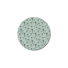 Telephone Lines Repeating Pattern Golf Ball Marker