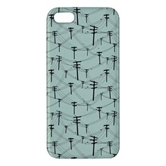 Telephone Lines Repeating Pattern Apple Iphone 5 Premium Hardshell Case