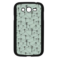 Telephone Lines Repeating Pattern Samsung Galaxy Grand Duos I9082 Case (black)