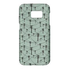 Telephone Lines Repeating Pattern Samsung Galaxy S7 Hardshell Case