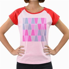 Geometric Pattern Design Pastels Women s Cap Sleeve T Shirt