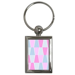 Geometric Pattern Design Pastels Key Chains (rectangle)
