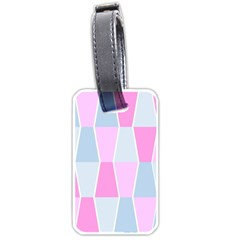 Geometric Pattern Design Pastels Luggage Tags (one Side)