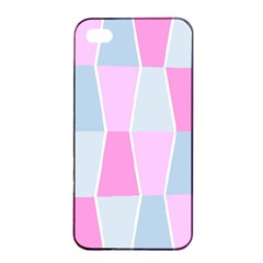 Geometric Pattern Design Pastels Apple Iphone 4/4s Seamless Case (black) by Samandel
