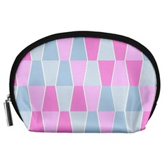 Geometric Pattern Design Pastels Accessory Pouch (large) by Samandel