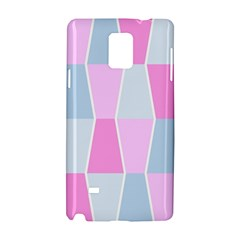 Geometric Pattern Design Pastels Samsung Galaxy Note 4 Hardshell Case by Samandel