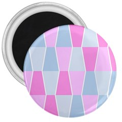 Geometric Pattern Design Pastels 3  Magnets