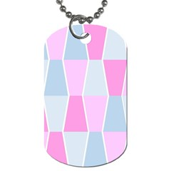Geometric Pattern Design Pastels Dog Tag (one Side)