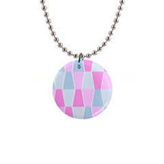 Geometric Pattern Design Pastels Button Necklaces by Samandel