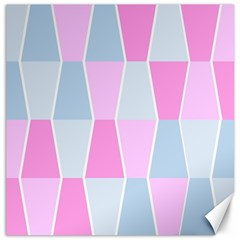 Geometric Pattern Design Pastels Canvas 12  X 12  by Samandel