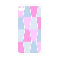 Geometric Pattern Design Pastels Apple Iphone 4 Case (white)